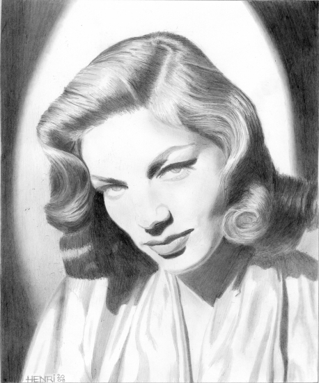 Lauren Bacall by Riton